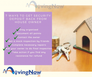 7 ways to get security deposit back from house owner