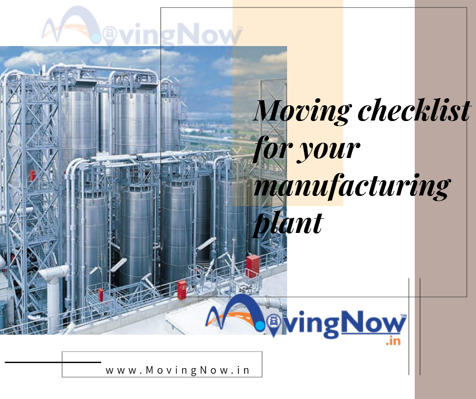 Moving checklist for your manufacturing plant