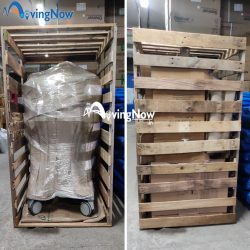 Moving sensitive medical equipment in special purpose wooden crating